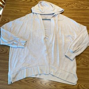 American eagle cream oversized hoodie cardigan XL